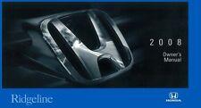 2008 Honda Ridgeline Owners Manual User Guide