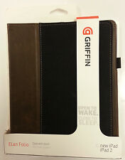 Griffin Elan Folio + Stand GB03838 For iPad 2 3 4 Generation - Black/Chocolate