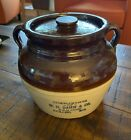 Vintage Red Wing Bean Pot Advertising WH Damm Collins Wisconsin