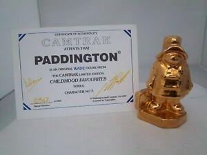 WADE GOLD PADDINGTON BEAR - CHILDHOOD FAVOURITES -  CAMTRAK (REFS 213/70)