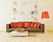 Wandtattoo Wandsticker Wandaufkleber Eulen Kinderzimmer Bunt 140 x 170 W057