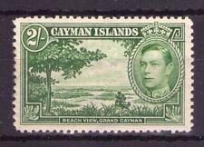 CAYMAN ISLANDS 2/- SG124 Yellow green lightly hinged cat. £50.