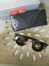 NWT Authentic Ray-Ban Clubmaster 51 mm Unisex Sunglasses Black Frame G15 Lens
