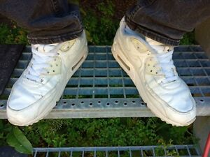 Nike Air Max 90 Ltr Leather white used gay