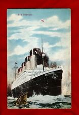 R.M.S. Olympic Post Card 1913 Titanic White Star LIne Interest
