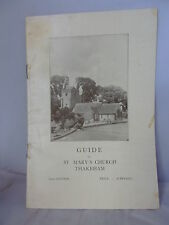 Guide to St Mary's Church - Thakeham - Gertrude M Powell