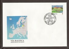 Latvia 1995 FDC. Baltica Highway Project