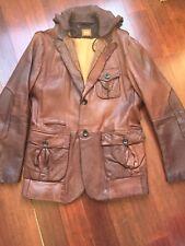 Hugo Boss Orange Mens Leather Blazer Size 40EU/ 50 US
