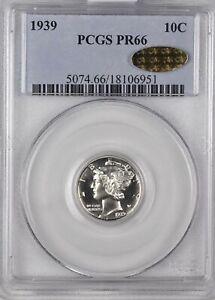 10C 1939 PCGS PR66 GOLD CAC