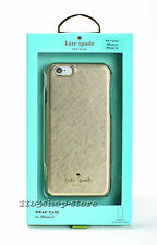 Kate Spade Saffiano Leather Wrap Hard Case Cover for iPhone 6 iPhone 6s Gold NEW