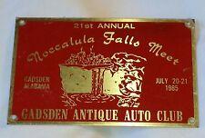 Gadsden Antique Auto Club Tag 21st Annual Noccalula Falls Meet 1985 Gadsden, AL
