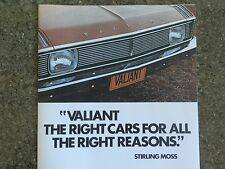 CHRYSLER VALIANT 1970 VG  BROCHURE,PLUS MATCHING COLOUR CHART  100% GUARANTEE.