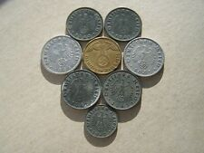 Nazi Germany Collection of Old WWII Coins 1938 to 1943 (Swastik)