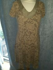 Zara collection Taupe & Beige Dress Size M