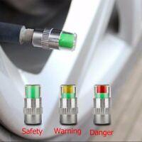 4x Tire Monitor Valve Dust Cap Pressure Indicator Sensor Eye Alert for Car Auto
