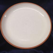 "EDDIE BAUER JAPAN EBA10 COUPE SALAD PLATE 8 5/8"" WHITE BODY TERRA COTTA EDGE"