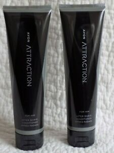 AVON 2 x ATTRACTION FOR HIM ~ AFTER SHAVE CONDITIONERS ~ 100ml each   *NEW*