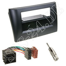 Fiat Stilo Doppel-DIN Auto Radioblende+Fach ISO Adapterkabel Antenne Stecker SET