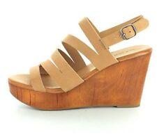 Sandalias con plataforma de mujer de color principal marrón sintético