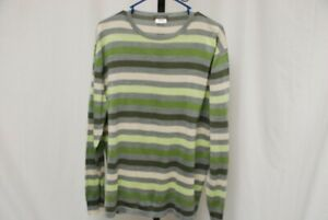 AVON CELLI Italy 100% silk stripped crewneck sweater #2 EU 56 / US XXL