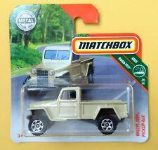Matchbox WILLYS JEEP PICKUP 4x4 MBX ROAD TRIP 34/35 Short Card 123/125 NEU&OVP