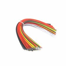 50pcs Breadboard Jumper Jump Cable Wires Tin plated 20cm mix colour