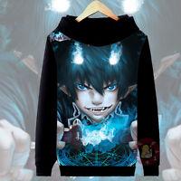 Anime Ao no Exorcist Okumura Rin Cosplay Hoodie Casual Jacket Coat#63-T24