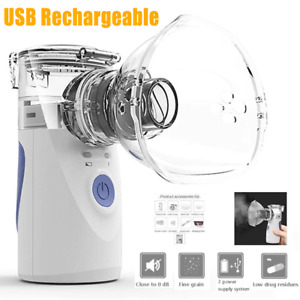 Portable Nebulize Machine Ultrasonic Inhaler Humidifier Respirator Kids Adults