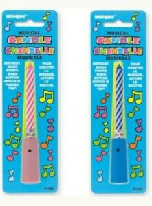 Happy Birthday Musical Candles Children Cake Topper Decoration Kids Party Fun