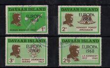 Cinderella Davaar Island Set of 4 Kennedy Overprint Europa 1968 Set of 4 -sr