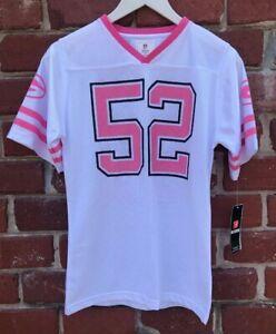 NWT NFL Team Apparel Girls Sz XL Matthews Jersey Green Bay Packers White Pink