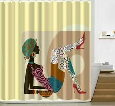 Shower Curtain Cover Liner Digital Women Painting Bathroom Attachment Art Decor