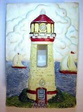 Single Toggle Switch Wall Plate Cover Composite Resin Light House Sail Boats