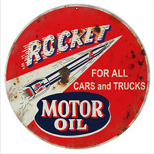 Reproduction Rocket Motor Oil Sign 14 Round