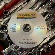 NEW HOLLAND TG210 TG230 TG255 TG285 TRACTORS SHOP SERVICE REPAIR MANUAL CD