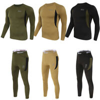 Men's Compression Thermal Base Layer Set Gym Workout Outfit Basketball Running