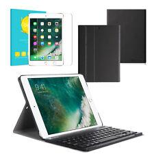Für iPad 9.7 6th Generation 2018 Bluetooth Tastatur Hülle Panzerglas Schutzfolie