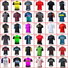 Men's Team Racing Cycling Jersey Short Sleeve Summer Bicycle Jersey Bike Shirt