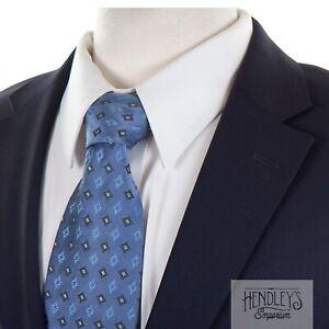 HUGO BOSS Navy Blue Blazer 40 R in Modern Textured Wool-Cashmere PAOLINI