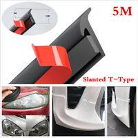 Slanted T-Type Car Fender Bumper Headlight Side Skirt Edge Seal Weatherstrip 5M