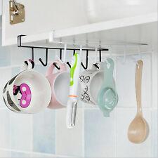 Kitchen Storage Rack Cupboard Hanging Hook Hanger Chest Organizer Mug Holder