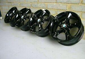 """Genuine BMW 256 17"""" Alloy Wheels: Gloss Black E81 E82 E87 E88 Z3 E46 Refurbished"""