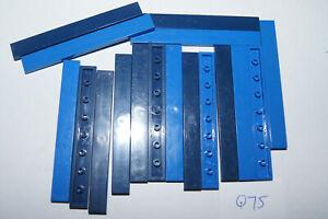 LEGO 17 BLUE 1x8 smooth floor TILES / Blocks # 4162 HOUSE / CASTLE (Q75) GENUINE