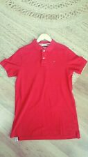Red Tommy Hilfiger Polo Shirt size L Good Condition