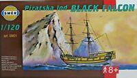 SMER 0901, BLACK FALCON, Piratenschiff, Bausatz 1:120,OVP,NEU