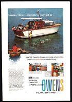1958 OWENS 35' Flagship Cruiser Yachit Boat AD w/ Interior Photos