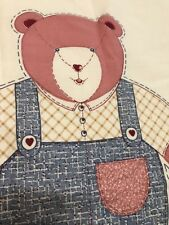 "Screen Print Fabric ""Patchwork Bear"" By Ameritex. Cut And Sew"