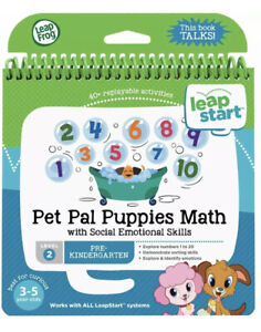 LeapFrog LeapStart Pre-Kindergarten Activity Book: Pet Pal Puppies Math and S...