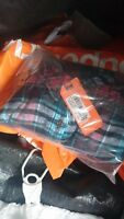 NEW RRP£49.99 WOMENS S SIZE 10 SUPERDRY MILLED FLANNEL SHIRT CHERRY AQUA BN 9941