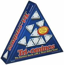 Pressman 4420 - Tri-ominos - the Domino Family Game with a 3 Sided Twist - Triom